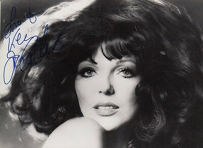 "JOAN COLLINS  - 5.5"" x 4"" Portrait Photograph PERSONALLY SIGNED To KEN F#21"