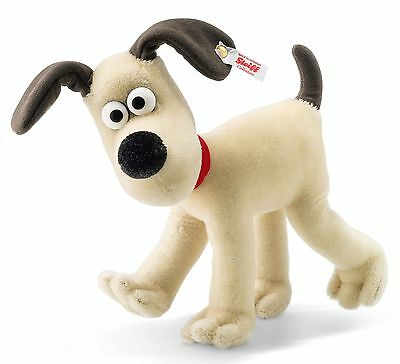 Steiff Gromit White Mohair Jointed Head Wallace Gromit 23cm Limited Ed 663789