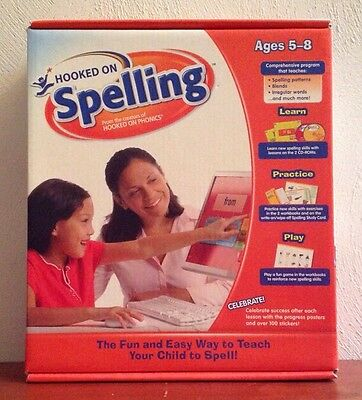 NEW HOOKED ON PHONICS HOOKED ON SPELLING KIT, AGES 5-8 1st 2nd GRADE, CDs