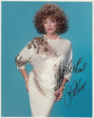 "JOAN COLLINS  - 10"" x 8"" Portrait Photograph PERSONALLY SIGNED To PAUL F#21"