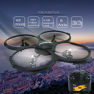 UDI R/C 2.4G 4CH Transmitter 6-Axis Gyro Model Airplane with HD Camera Monitor
