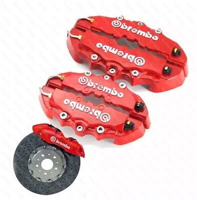 Red Universal Brake Caliper Covers Set Red Front & Rear Fits Ford Audi Bmw Etc..
