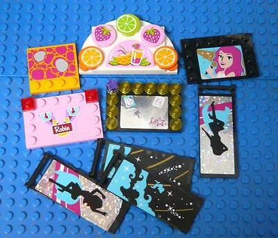 LEGO Minifig Friends Panels Signs Assorted x9PC