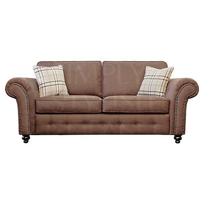 NORFOLK Country Style Tan Sofas 3 + 2 Seaters + Armchairs + 1 Year Guarantee