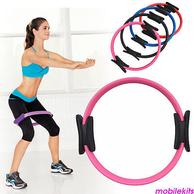 Pilates Yoga Magic Ring Circle With Dual Grips for Home Fitness Workout Training