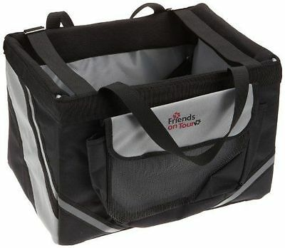 NEW Trixie Front-Box Basic for Bicycles  38 × 25 × 25 cm  Black/ Grey Dog puppy