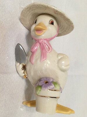 Lenox Bringing In Spring Duck Figurine - Easter - With Box