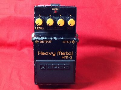 Used BOSS HM-2 Heavy Metal Effect Pedal Made In Japan w/Tracking Number