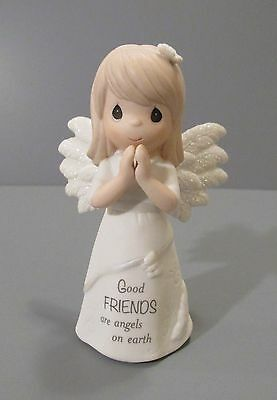 "Precious Moments ""Good Friends are Angels on Earth"" Girl Angel Praying Figurine"