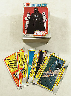 Star Wars - Empire Strikes (ESB) - Series 1 - Complete Card Set (132) 1980 - NM