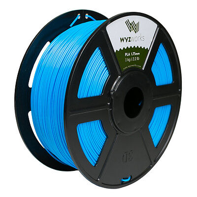 WYZwork 3D Printer Premium PLA Filament 1.75mm 1kg/2.2lb - Sky Blue