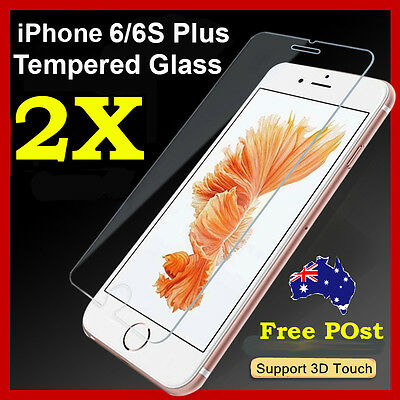 2 x Tempered Glass Screen Protector film Guard  For Apple iPhone 6 Plus 6s Plus