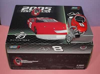 Revell Nascar Dale Jr #8 Bud Test Car 1/24-Diecast 2005 Includes Stopwatch
