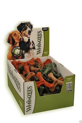 Whimzees Cross Bones Box 50 Treats - Healthy Vegetable Dog Chews Gluten Free
