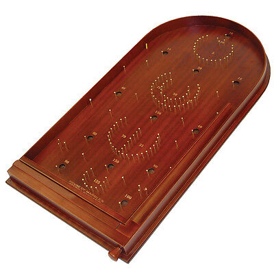 TRADITIONAL BAGATELLE PIN BALL QUALITY WOODEN PUB GAME inc STEEL BALLS - boxed