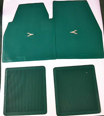 Accessory Floor Mat Green Set of 4 1955-1962 ALL Ply, Dodge DeSoto Chrysl, Imp