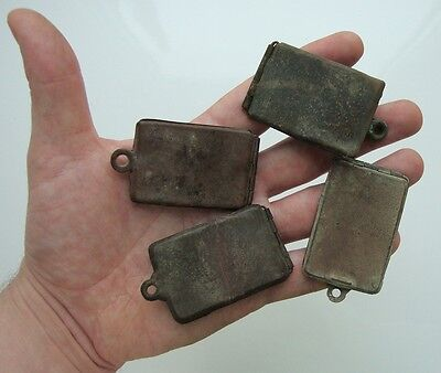 Original Dog ID Tag Austria Hungary WW1 4 pcs vintage brass / soldier world war