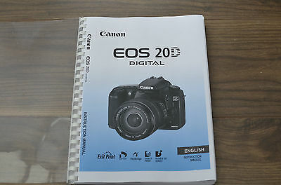 Canon EOS 20D  User guide Instruction manual  ***PRINTED***  168 pages