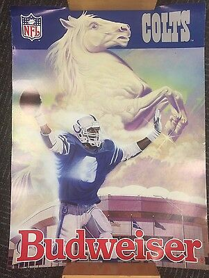 Indianapolis Colts Budweiser NFL 1992 Poster Original