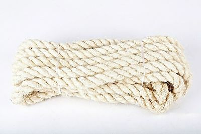 100% Natural Sisal Rope Twisted Braided Decking Garden Pets Cats Crafts 6mm-24mm