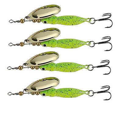 4pcs/lot Spinner Baits 15g Fishing Lures Spinnerbait Trout Metal Spoon Willow Ba