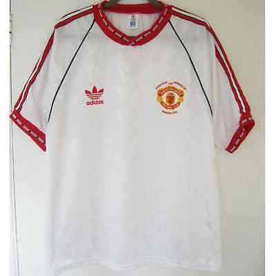 Rare Manchester United Cup Winners Cup 1991 Adidas Away Football Shirt. Size XL
