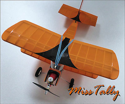 Model Aircraft Traditional Balsa Build Kit Biplane NEW RC or Free Flight Kit