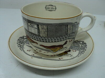 Vintage Adams ironstone Micratex large cup/saucer chicken