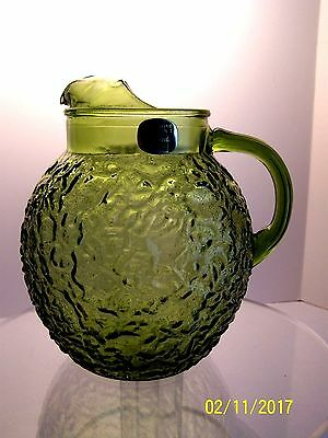 Vintage pitcher Anchor Hocking Glass Co., Milano Lido pattern
