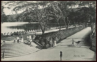 Vintage Postcard Kandy Lake Ceylon Unused Ref: KA039