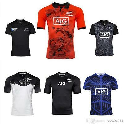 2017 rugby Jersey 2016 new zealand rugby shirts red training men size S-3XL