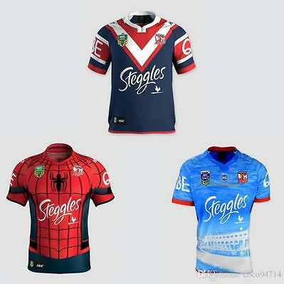 2017 Sydney Roosters rugby jerseys men shirts Spider Man Roosters size S-3XL
