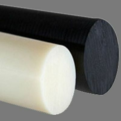 CUT TO SIZE Acetal & Nylon 66 Rod - Black Natural White - Round Billet 500-1000