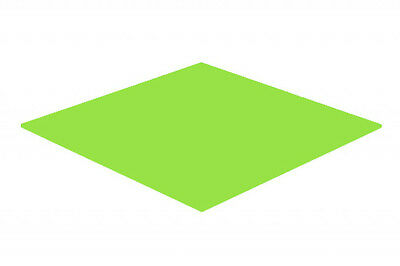 Lime Green Gloss Acrylic Perspex Sheet Colour Cast Cut to Size Panel Plastic