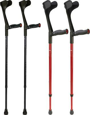Ossenberg Carbon Fibre Pair Anatomical Soft Grip Foldable Travel Crutches