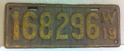 1919 WISCONSIN License Plate (168296)
