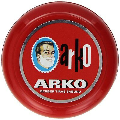 3X Arko Shaving Soap In Bowl 90g Traditional Wet Shave With Moisturising Cream
