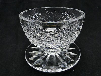 Waterford Alana Footed Dessert Bowls Clear Polished Cut Glass 3 1/8in high