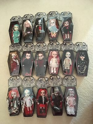 16 Mini Living Dead Dolls all In Boxes And All In Great Condition.