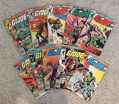 Vintage Collection Of G.I. Joe Comic Books (10) From Estate Sale