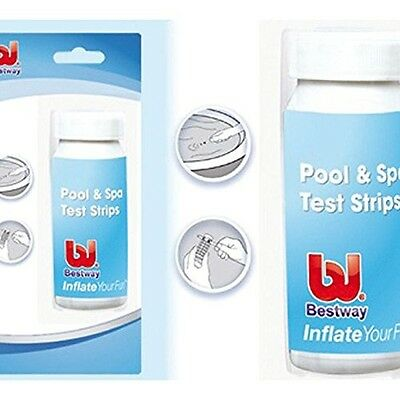 Bestway 3 in 1 Pool and Spa Test Strips 50 strips for Chlorine PH Alkalinity