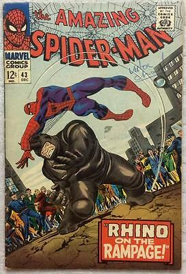 Amazing Spider-Man #43 (1966 Marvel) Silver Age classic 1st full app Mary Jane.
