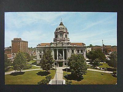 Bloomington Indiana IN Monroe County Courthouse View Postcard 1950s