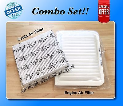 COMBO SET FOR CAMRY VENZA 4 CYL Engine & Cabin Air Filter A5649 C35667 US Seller