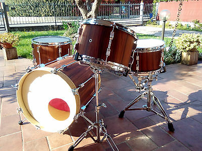 JAZZETTE NATURAL ROSEWOOD & MAPLE  drum set   BATTERIA  HANDMADE