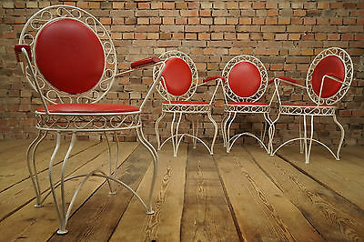 1950s ROCKABILLY GARDEN SEAT METAL CHAIR VINTAGE GARDEN CHAIRS RETRO chairs 1/4