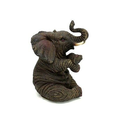 "Small Elephant Statue Feng Shui Lucky Elephant Figurine Collectible 4"" Tall A"
