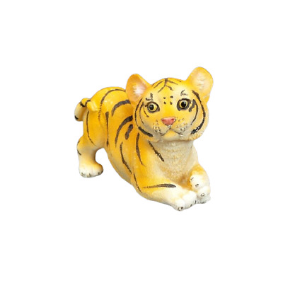 """Small Bengal Tiger Figurine Wild Cat Collectible Statue 2.5"""" Tall C"""