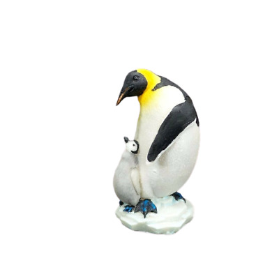 Emperor Penguin with Baby Small Figurine Collectible Statue A