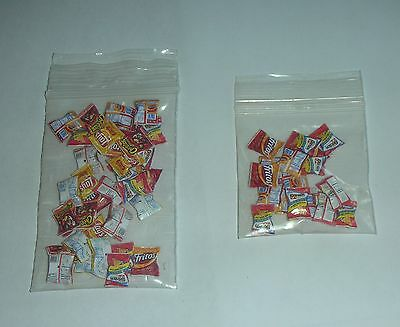Wholesale Lot Dollhouse Miniature Chips 36 or 18 bags Different brands! 1:24 NEW